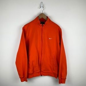 Nike orange full zip track jacket men m